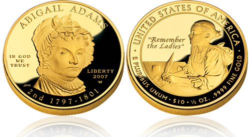 2007 First Spouse Abigail Adams Gold Proof Coin