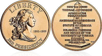 2007 Jefferson's Liberty First Spouse Medal