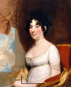Portrait of Dolley Madison by Gilbert Stuart