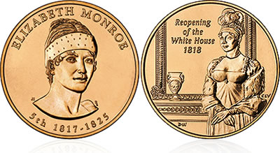 2008 Elizabeth Monroe First Spouse Medal