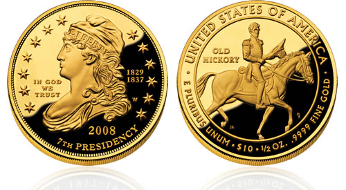 2008 First Spouse Jackon's Liberty Gold Proof Coin
