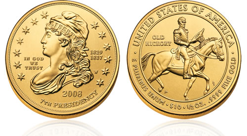 2008 First Spouse Jackson's Liberty Gold Uncirculated Coin