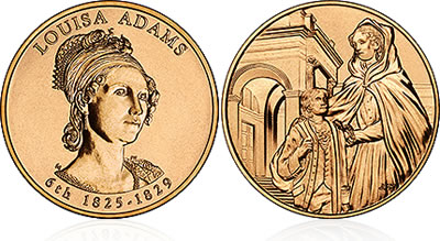 2008 Louisa Adams First Spouse Medal