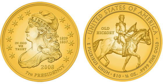 2008 Jackson's Liberty First Spouse Coin Designs