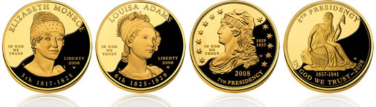 2008 First Spouse Gold Coins - Obverse