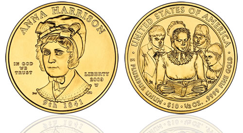 2009 Anna Harrison First Spouse Gold Uncirculated Coin