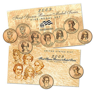 2009 First Spouse Bronze Five Medal Set
