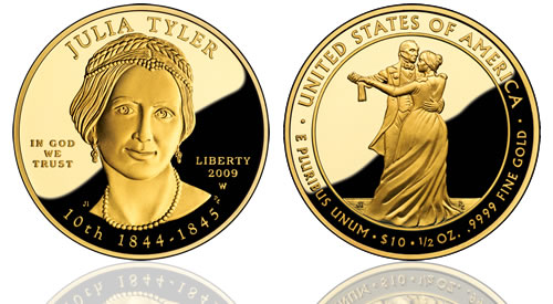 2009 Julia Tyler First Spouse Gold Proof Coin