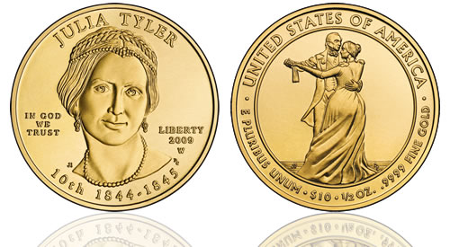 2009 Julia Tyler First Spouse Gold Uncirculated Coin