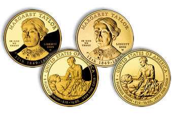 2009 Margaret Taylor  First Spouse Gold Coins