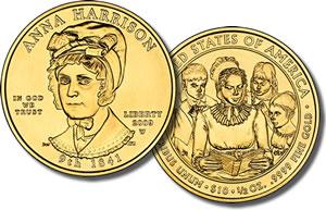 Anna Harrison coin