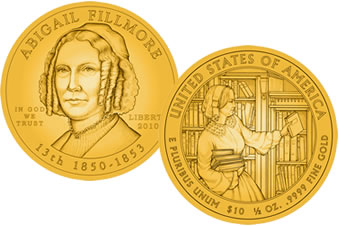 2010 Abigail Fillmore First Spouse Gold Coins