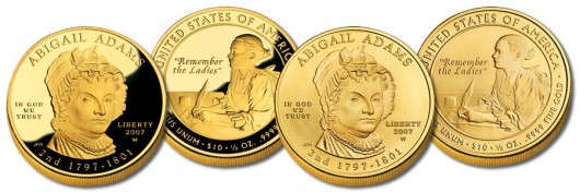 Abigail Adams First Spouse Gold Coins