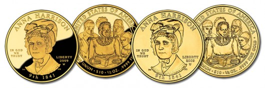 Anna Harrison First Spouse Gold Coins