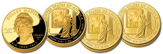 Dolley Madison First Spouse Gold Coins