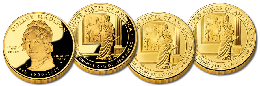 Julia and Letitia Tyler US Mint issued Two UNC 2009 Bronze First Spouse Medals