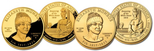 Elizabeth Monroe First Spouse Gold Coins