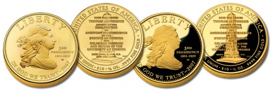 Jefferson's Liberty First Spouse Gold Coins