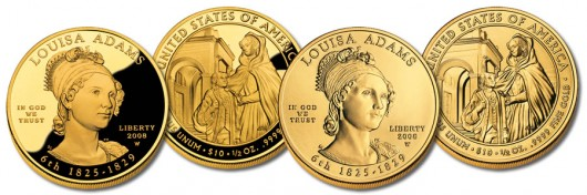 Louisa Adams First Spouse Gold Coins