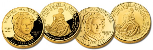 Martha Washington First Spouse Gold Coins