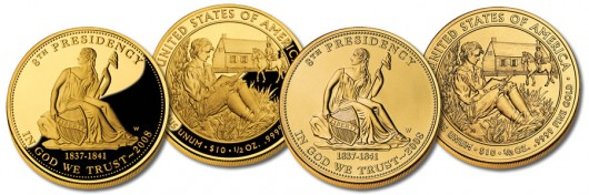 Van Buren's Liberty First Spouse Gold Coins