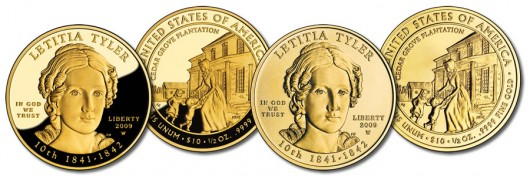 Letitia Tyler First Spouse Gold Coins