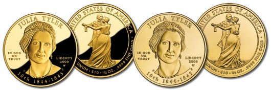 Julia Tyler First Spouse Gold Coins