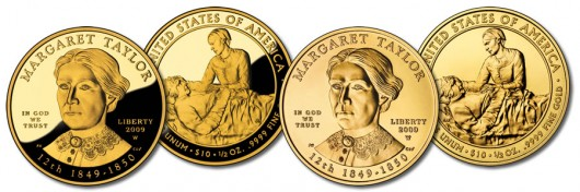 Margaret Taylor First Spouse Gold Coins