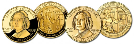 Abigail Fillmore First Spouse Gold Coins