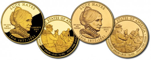 2011 Lucy Hayes First Spouse Gold Coins
